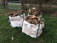 Bulk bag of various good sized pieces of wood/logs