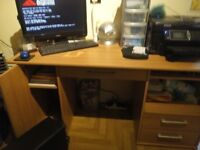 Computer Desk Beech Effect