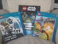 Lego City Story books X 2. 1: Thief on the Run 2: Fire Fighting Heroes + Lego Star wars annual