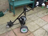 Hill Billy Electric Golf Trolley with battery and charger