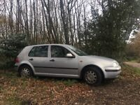 Volkswagen Golf, 5-door, silver, 11 month MOT though needs new clutch or gearbox