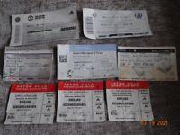 Football Ticket Stubs