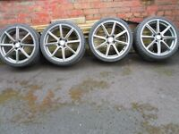 18 inch fox alloys and good tyres