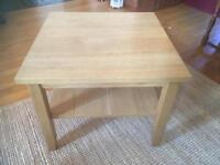 IKEA Oak coffee table 55cm x 55cm