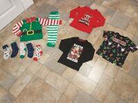 Boys 5 yo 6 years christmas clothes bundle