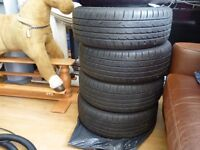 4x 205/50 ZR17 93W THREE-A TYRES FULL MATCHING SET WITH 7MM OF TREAD