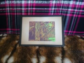 Framed Lino Print