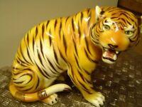 large antique tiger ornament