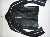 "Black Motorbike Jacket - Hein Gericke, 36"" Chest, AS NEW !!"