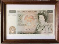 DHF Sommerset £50.00 Bank Note Prefix A01 in a uncirculated condition