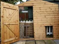 Solid pine chicken coup/shed front