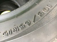 Dunlop Tyres - Made in USA - 195/65R15 Set of 4 - Very low miles lots of life left! £125 firm