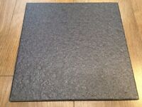 12 m2 of grey floor tiles 300x300 mm textured with sparkle can deliver