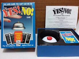 Yes! No! A great fun game for children and adults. Great for train or car journeys.