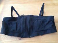Hands-free Breast Pump Bra (Black, Large)