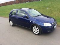 2004 VAUXHALL CORSA 1.2 S.X.i. # 3 DOOR # METALLIC BLUE # ELECTRIC FACTORY FITTED SUNROOF #
