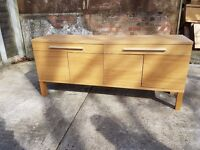 Wide Pine Office Cabinet/Drawers