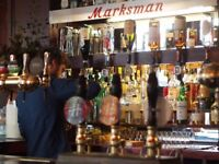 Bar + Waiting Staff wanted for The Marksman, London