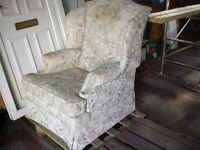 PARKER KNOLl LADIES ARMCHAIR in lovely pastel shades