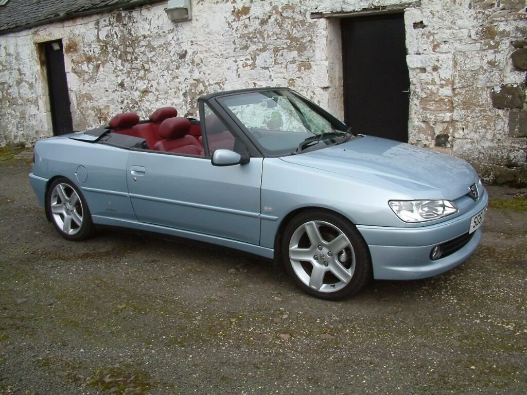 peugeot 306 cabrio roadster 47000 miles with hard top. Black Bedroom Furniture Sets. Home Design Ideas