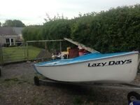12ft rowing sailing boat
