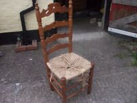 High Backed Dining Chair Good Shabby Chic Project Delivery Available