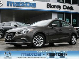 2014 Mazda MAZDA3 SPORT GS SPORT, .65% FIN, LOW KMS, 1 OWNER, AC