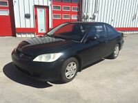 2005 Honda Civic DX 1450$ TAX ET TRANSIT INCLUS