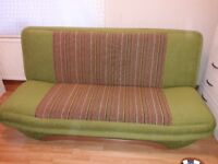 Double sofa bed with storage in excellent condition
