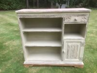 Hand Painted Shabby Chic Solid Oak Old Charm Bookcase
