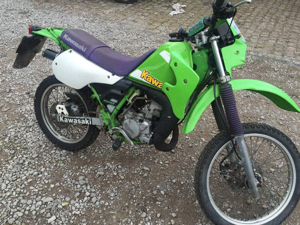 kawasaki kmx 125 b10 2000 2 stroke geared motorbike delivery in stoke on trent. Black Bedroom Furniture Sets. Home Design Ideas
