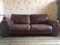Leather Sofa £80 must collect