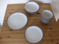 Large and small plates, bowls set - M&S