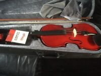 Nearly new stagg professional 4/4 full size acoustic violin set with professional stagg case and bow