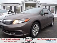 2012 Honda Civic EX W/ SUNROOF $100.74 BI WEEKLY!!!