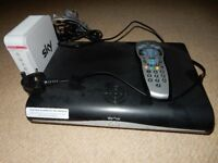 Fully working Sky +HD box with controller and internet box