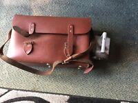 Drivers/guards leather bag with bardic