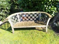 Garden Chair with wrought iron back in need of refurb