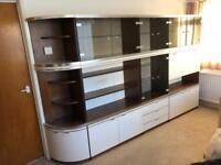 Display / storage / bureau units, cupboards, drawers, glass display sections