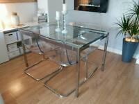 IKEA GLIVARP extendable table & 4 Tobias Chairs RRP£470