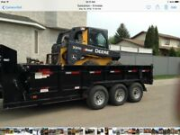 Reliable Bobcat service with Dump Trailer