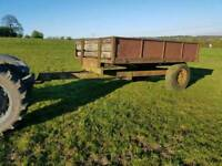 Old tractor tipping trailer needs refurbished