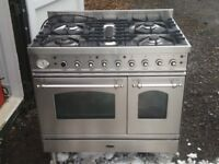 Brittania stainless steel range gas cooker model si-clss-9tf