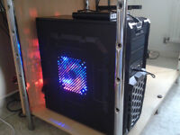 GAMING PC FULL SET UP +1080P TV +SUB AND SPEAKERS
