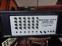 sound city 120watt valve mixer/amplifier