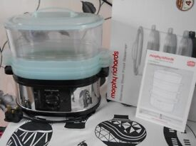 Morphy Richards 3-tier food steamer - still boxed