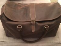 BROWN NUBUCK EFFECT HOLDALL
