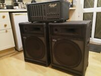 Marshall PA-400 PA System and 2 x Custom Sound speakers