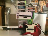 Xbox 360/kinect/21games and guitar