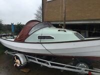 Drascombe Coaster family day boat/ trailer sailor/family car tow and sail